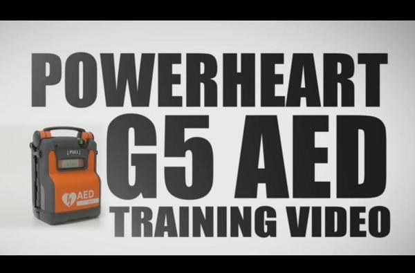 Utbildningsvideo för användning av hjärtstartare Powerheart G5